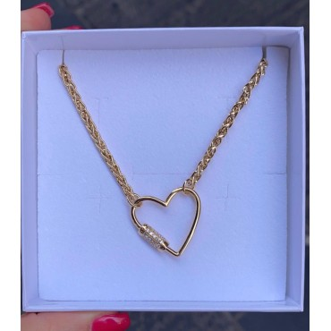 Collana open heart gold
