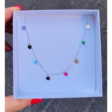 Collana pendenti colorati
