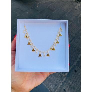 Collana triangoli pendenti