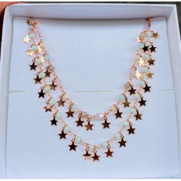 Collana stelline e opale