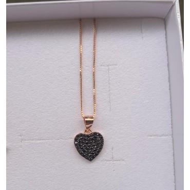 Collana cuore nero