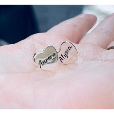 Orecchini cuore personalizzati
