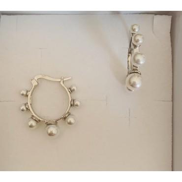 Orecchini cerchi perle