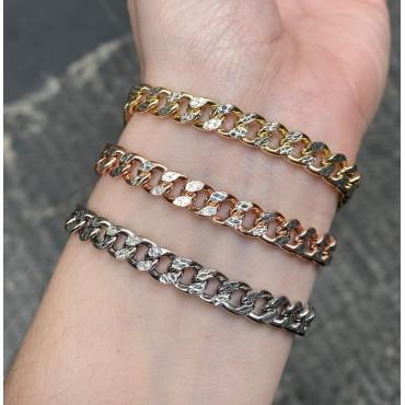 Bracciale grumetta diamantato