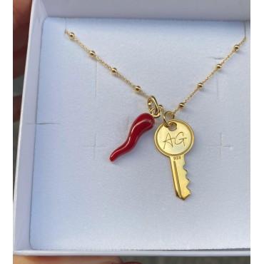 Collana key e corno