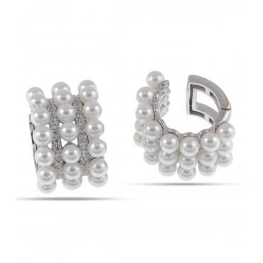 Ear cuff tripla perla
