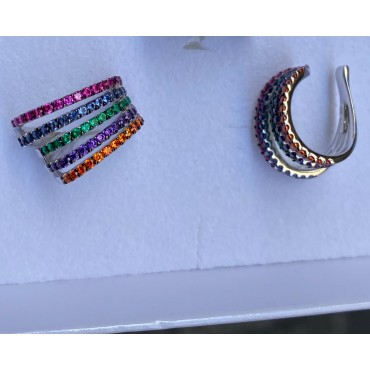Ear cuff multifili multicolor