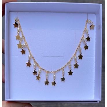 Collana stelline e perle