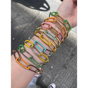 Bracciale catena colorata