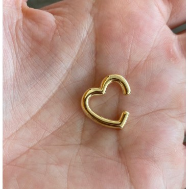 Ear cuff cuore gold