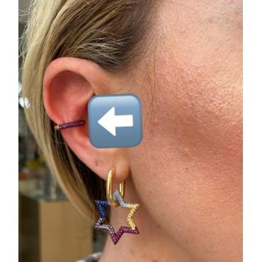 Ear cuff zirconi colorati