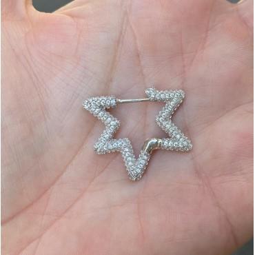 Orecchino stella silver