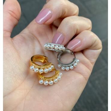 Cerchi con perle e zirconi