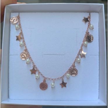 Collana monete e perle