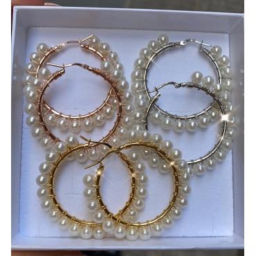 Cerchi filo di perle