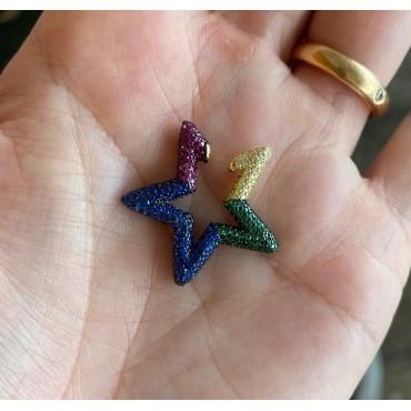 Ear cuff stella jumbo rainbow