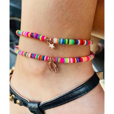 Cavigliera gommini multicolor